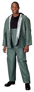 Rothco Olive Drab PVC Rainsuit - Unisex PVC Olive Rain Coat And Pants