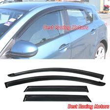 JDM Side Window Visors Fits 10-13 Mazda 3 5dr Hatch