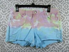 Almost Famous Shorts Pink/ Blue/ Green Tie Die 5 Pockets Size 14