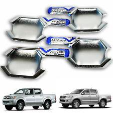 Fit Toyota Hilux Sr Vigo Kun Pickup 4X4 4X2 Handle Bowl Cover Trim Chrome 4 Door