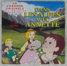 Dans les Alpes avec Annette 45 tours Valérie 1987