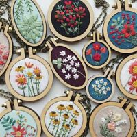 DIY Crafts Cross-Stitch Frame Embroidery Hoop Wooden Framing Hand Stitching