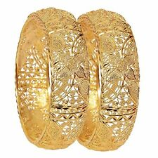 Indian Fashion Bangle Bracelets Gold Plated Bollywood Wedding Bridal Meena Work