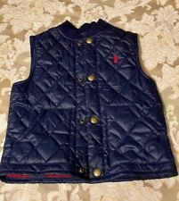 Children's Clothing - Polo Ralph Lauren Quilted Vest, Blue/Red