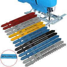 14pc Assorted Metal Steel T-shank Jigsaw Blade Set Fitting For Plastic Wood Set