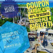 Coupon Gardaland 40% fino a 4 biglietti!!24€ a biglietto!Scadenza fine stagione