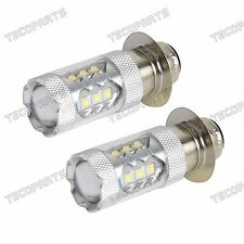2PCS Cool White LED Headlights Bulbs 80W for Yamaha YFM/Banshee 350,Blaster 200