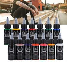 30ml 14 Colors Professional Tattoo Ink Monochrome Set Body Art Pigment Kit