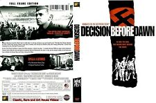Decision Before Dawn ~ New DVD ~ Richard Basehart, Oskar Werner (1951)