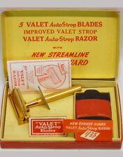 Vintage New Unused Valet Auto Strop Streamline Razor E,  Blades, Manual, Box