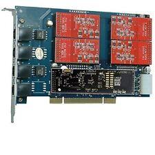 TDM410P 4 FXO Card with Echo Cancel. HW,asterisk Card tdm400p For IP PBX,tdm410