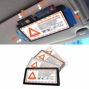 Interior Sun Shade Visor Slot Card Pocket Pouch Holder Case 1ea for RENAULT Car