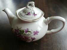 Vintage Tea Pot China Arthur Wood Ceramic Violets Design
