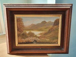 Ann Celia Original Oil Painting Ashness Bridge Lake District 26 x 21cm