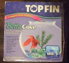 Glass Fish Bowl Kit Rare Top Fin � Betta Cove Goldfish Food Gift Treatment Set