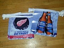 detroit red wings, lions, tigers, or pistons beer pennant 2 pack..free shipping
