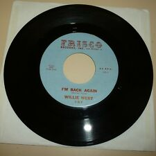 NEW ORLEANS SOUL 45 RPM RECORD - WILLIE WEST - FRISCO 107