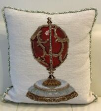 Superb Forbes Collection Faberge Imperial Egg Design Needlepoint Pillow