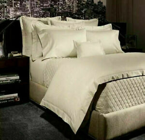 Ralph Lauren Bedford 400TC Jacquard Full/Queen Duvet Cover Essex Cream $430
