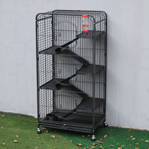 6-Tier Tall Metal Pet Guinea Pig Cage Rodent Rat Ferret Chinchilla Animals Hutch