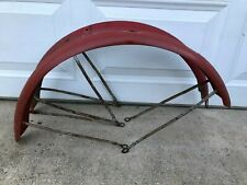 PREWAR SHELBY SPEEDWAY SPECIAL PEAKED FRONT & REAR  FENDERS WITH FLAT BRACES