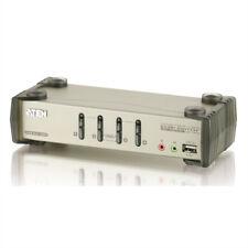 ATEN CS1734B KVM Switch VGA, PS/2-USB, Audio, USB-Hub, 4 Ports