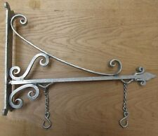 "16"" GALVANISED vintage rustic sign house name board hanging bracket"