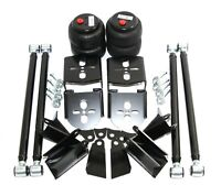 """Weld On Triangulated 4 Link Suspension w/ Rear Bag Brackets Air Ride 2.75"""" Axle"""