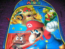 Nintendo Super Mario, Bowser, Koopa & Gumba Canvas Backpack