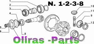 KIT REVISIONE DIFFERENZIALE POSTERIORE  FIAT PANDA 4X4 (mod.141.)