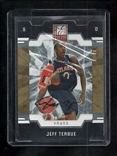 Jeff Teague 2009-10 Elite GOLD STATUS Auto Rookie #/24! DIE-CUT! Hawks Pacers SP