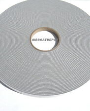 "Gray Vinyl Foam Tape, 1/8"" Thick X 1/2"" W X 75' Long HD Sealer, Medium Density"