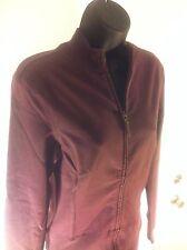 2 Piece Tommy Bahama Indigo Palms Women's Plum Zippered Jacket (M) And Pants (S)