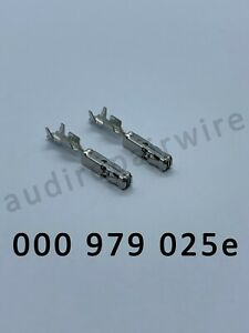 AUDI VW SKODA SEAT 000979025E CRIMP TERMINALS PINS 10X CONNECTOR 000 979 025 E