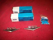 1963 64 65 66 67 Ford Fairlane Falcon Mustang Bronco 289 Fender Emblems Pair