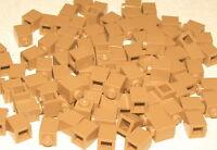 LEGO LOT OF 100 NEW MEDIUM DARK FLESH 1 X 1 BUILDING BLOCKS BRICKS