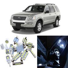 11pcs White Interior LED Light Package Kit for Ford Explorer 2002-2010