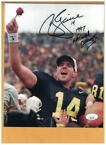 Brian Griese AUTOGRAPHED MICHIGAN WOLVERINES STADIUM 8x10 PHOTO SIGNED JSA AUTH
