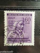 BOHEME et MORAVIE ALLEMAGNE, GERMANY, timbre 102 CHARLES IV, oblitéré, CELEBRITY