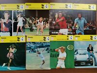1977-80 FINNISH SPORTSCASTER TENNIS CARDS ABOUT 160PCS LOT