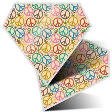 2 x Diamond Stickers 7.5 cm - Peace Sign Symbols Hippy  #15591