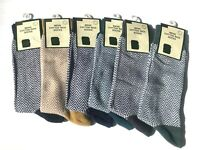 Men Cotton Rich Luxury Herringbone Design Socks 7-11 Grey, Black, Mustard,Blue,G