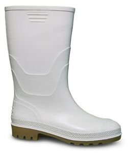 Traxium Mens White Gumboots - New with Tags
