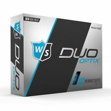 Wilson Staff Duo Soft Optix Golf Balls (Matte Blue, 12pk) New