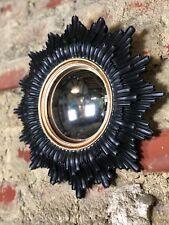 """Glace / miroir soleil """"Anna"""" noir et doré oeil de sorcière diamètre 30 cm"""