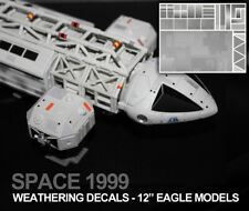 """SPACE 1999 EAGLE TRANSPORTER - WEATHERING DECALS - MPC, P.E. & 12"""" Models - NEW"""