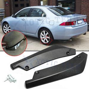For Acura TSX TLX ILX MDX RDX Rear Bumper Diffuser Splitter Canard Carbon Fiber