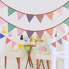 Printed Cloth Decoration Flag Banner Pennant For Wedding Birthday Party Decor