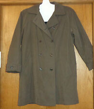 Womans sz M - Dark Taupe COAT - Gallery 4-season JACKET - zip out liner - Xcelnt