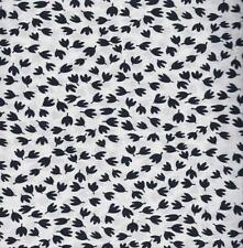 QUILT FABRIC: 100% COTTON, BLACK & WHITE PRINT,  0107813 By The Yard